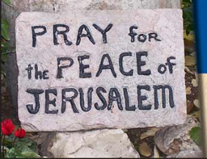 Pray for the Peace of Jerusalem sign
