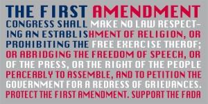 1st Amendment flag graphic