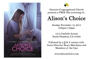 Alison's Choice Showing 11.15.15